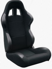 High Performance Black Racing Seat Car Seat With Fabric + Carbon Look Material